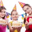 Funny birthday party — Stock Photo