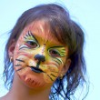 Lion Face Paint — Stock Photo