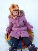 Snow tubing — Stock Photo