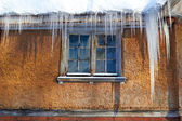 Windows Beneath Icicles — Stockfoto