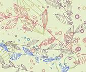 花の要素とビンテージ背景 — ストックベクタ