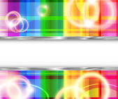 Rainbow background with flares — Stock Vector