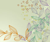 Halftone vintage floral background — Stock Vector