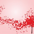 Valentine tree with hearts — Imagen vectorial