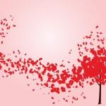 Valentine tree with hearts — Stock Vector