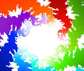 Different colors of rainbow — Stock Vector