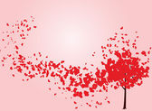 Valentine tree with hearts — Stockvector