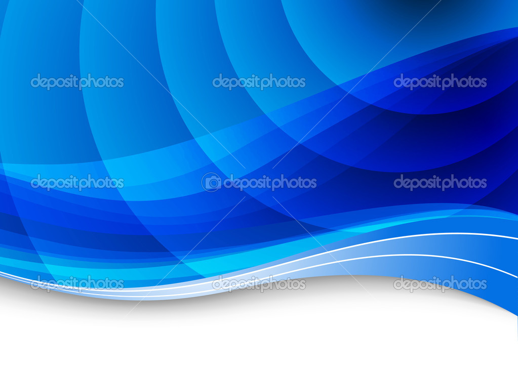Blue waves background. Vector illustration — Stok Vektör #5319149