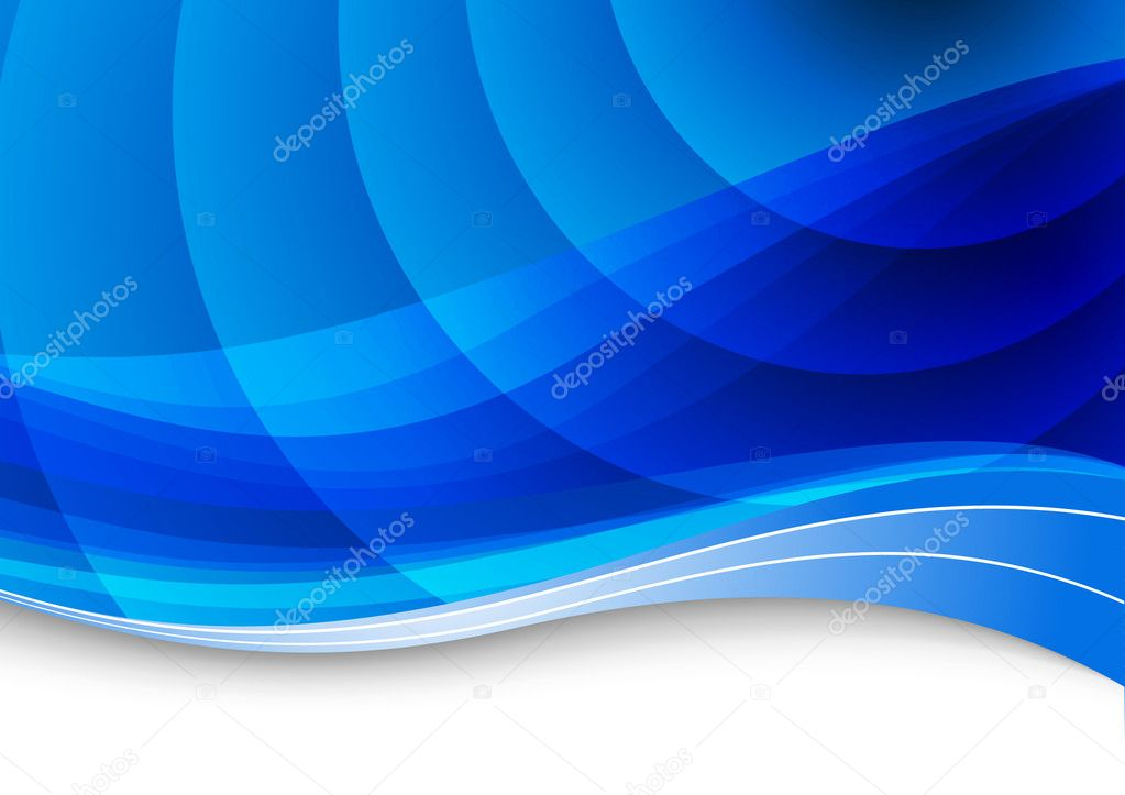 Blue waves background. Vector illustration — Stockvectorbeeld #5319149