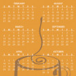 Calendar for 2011 - Stok fotoraf