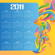 Calendar for 2011 — Stock Photo