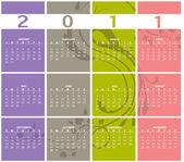 Kalendarz na rok 2011 — Zdjęcie stockowe