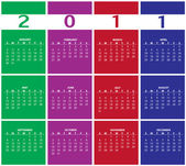 Calendar for 2011 — Stock fotografie