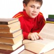 Boy and books — Stock Photo