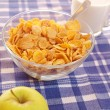 Cornflakes and milk — Stock Photo
