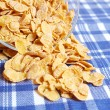 Cornflakes on the table — Stock Photo