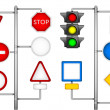 Forms for a road signs — Stok Vektör