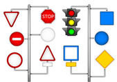 Forms for a road signs — Stock Vector