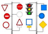 形式为道路标志的 — 图库矢量图片