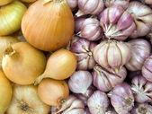 Aglio e cipolle — Foto Stock