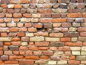 红色旧砖墙 — 图库照片