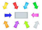 Simple arrows — Stock Vector