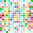 Rainbow colors are random scattered — 图库矢量图片