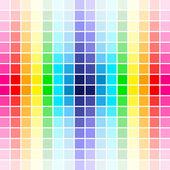 Paleta de colores del arco iris — Vector de stock