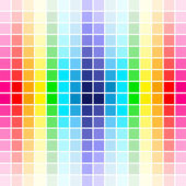 Palety barvy duhy — Stock vektor