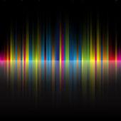 Abstracte regenboog kleuren zwarte achtergrond — Stockvector