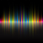 Arco iris abstracto colores negro fondo — Vector de stock
