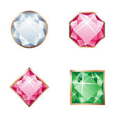 Set of jewel — Stock Vector