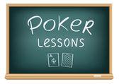 Leçons de poker à l'école — Vecteur