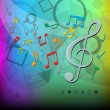 Modern abstract music color background - Vektorgrafik