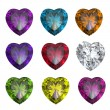 Collections of gems - Stock Photo
