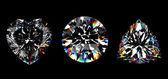 3d Round brilliant cut diamond — Stock Photo