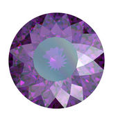 Round amethyst — Stock Photo