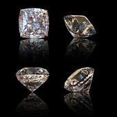 Square cognac diamond. Gemstone — Stock Photo