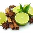 Lime with spices — Stock Photo