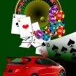 Casino elements. Vector illustration - Imagen vectorial