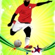 Poster Soccer football player. Colored Vector illustration for d - Stock Vector