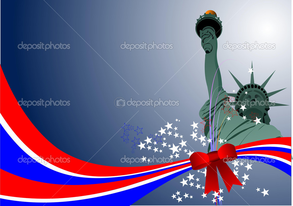 4th July - USA independence day  Stock Vector #4022723