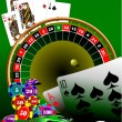 Stock Vector: Casino elements. Vector illustration;