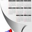 2011 calendar with American holidays — Vettoriali Stock
