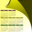 2011 calendar with American holidays — 图库矢量图片