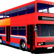 London double Decker red bus. Vector illustration — Stock Vector #4617506