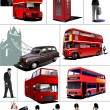 Some London images. Vector illustration — Stock Vector