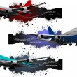 Three banners of plane. Vector illustration — Stock Vector