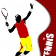 Royalty-Free Stock Vector Image: Tennis player. Colored Vector illustration for designers