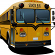 Royalty-Free Stock Vector Image: Yellow school bus. Vector illustration